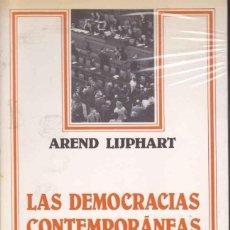 Libros de segunda mano: AREND LIJPHART - LAS DEMOCRACIAS CONTEMPORÁNEAS 1ªED. Lote 207606143