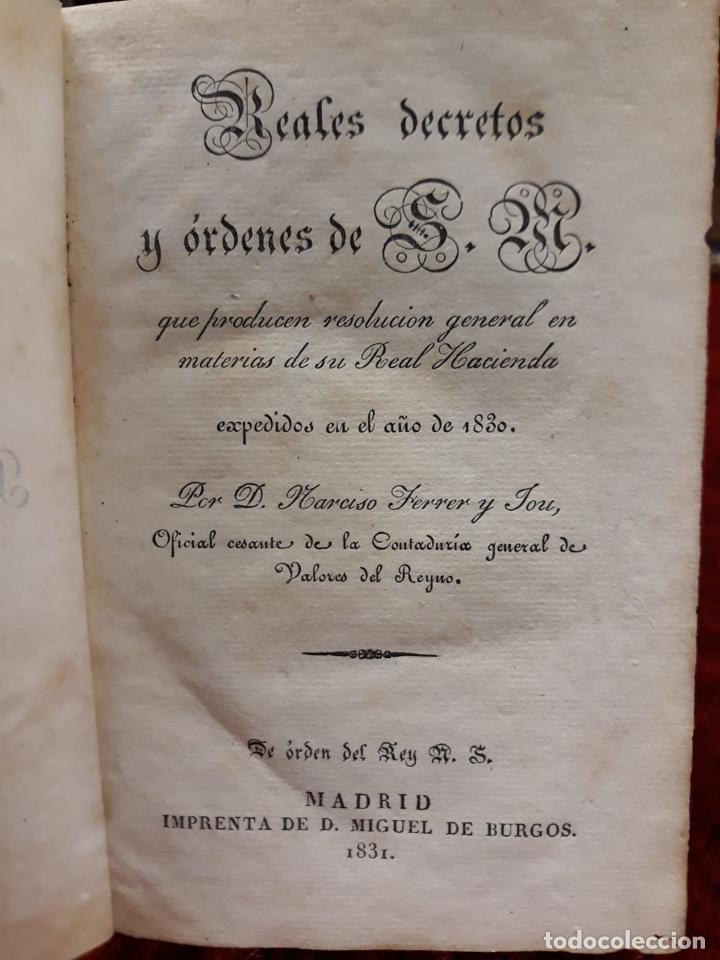 GUIA O ESTADO GENERAL DE LA REAL HACIENDA DE ESPAÑA, AÑO 1830 PARTE LEGISLATIVA. (Libros de Segunda Mano - Pensamiento - Política)