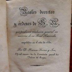 Libros de segunda mano: GUIA O ESTADO GENERAL DE LA REAL HACIENDA DE ESPAÑA, AÑO 1830 PARTE LEGISLATIVA.. Lote 208924780
