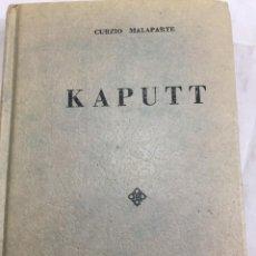 Libros de segunda mano: KAPUTT. CURZIO MALAPARTE. EDITORIAL DIANA MÉXICO 1962. Lote 209057070