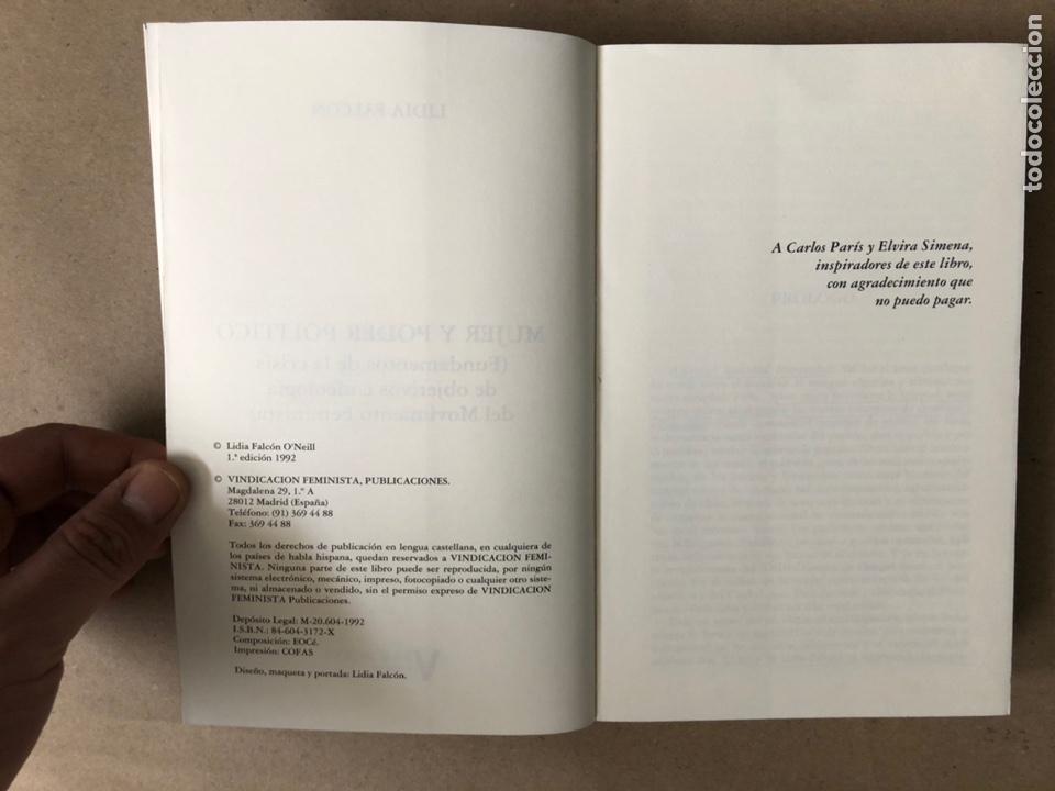 Libros de segunda mano: MUJER Y PODER POLÍTICO (CRISIS DE OBJETIVOS E IDEOLOGÍA DEL MOVIMIENTO FEMINISTA). LIDIA FALCÓN - Foto 3 - 209215307