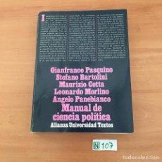 Libros de segunda mano: MANUAL DE CIENCIA POLÍTICA. Lote 209715501