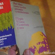 Libros de segunda mano: KARL MARX COMO HOMBRE PENSADOR Y REVOLUCIONARIO,ENGELS,1976,CRITICA ED, REF MARX BS2 NL. Lote 209867770