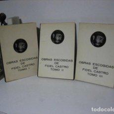 Libros de segunda mano: OBRAS ESCOGIDAS DE FIDEL CASTRO. TRES TOMOS COMPLETA. ED. FUNDAMENTOS 1976 - 1978. Lote 209869972