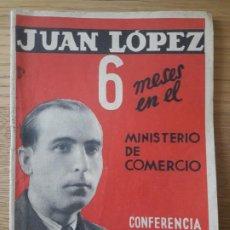 Livros em segunda mão: C.N.T A.I.T CONFERENCIA DE JUAN LOPEZ, MINISTRO DE COMERCIO. 27 MAYO 1937 OPUSCULO.. Lote 211773101
