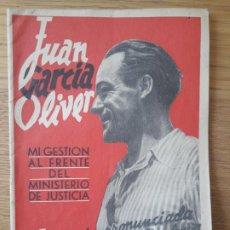 Livros em segunda mão: C.N.T A.I.T JUAN GARCIA OLIVER. 1937, CONFERENCIA EN EL TEATRO APOLO DE VALENCIA. RARO. Lote 211774946