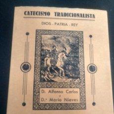 Libros de segunda mano: CATECISMO TRADICIONALISTA. MANUAL DE LAS JUVENTUDES CARLISTAS. FACSÍMIL DE 1994. CARLISMO. Lote 214214910