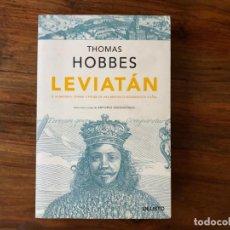 Libros de segunda mano: LEVIATAN. THOMAS HOBBES. DEUSTO. POLÍTICA. RAZÓN Y CIENCIA.. Lote 214221357