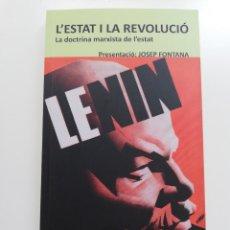 Libros de segunda mano: L'ESTAT I LA REVOLUCIÓ. LA DOCTRINA MARXISTA DE L'ESTAT (V. I. LENIN). Lote 214339437