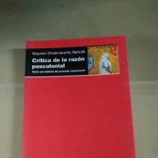 Libros de segunda mano: CRÍTICA DE LA RAZÓN POSCOLONIAL - GAYATRI CHAKRAVORTY SPIVAK. AKAL. DESCATALOGADO. Lote 214689480