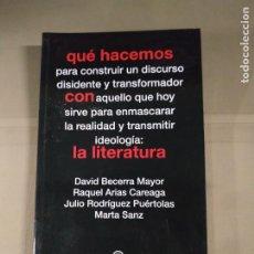 Libros de segunda mano: QÚE HACEMOS PARA CONSTRUIR UN DISCURSO DISIDENTE Y TRANSFORMADOR... - VVAA. AKAL. Lote 214871827