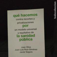 Libros de segunda mano: QÚE HACEMOS CONTRA LOS RECORTES Y PRIVATIZACIONES...VVAA. AKAL. Lote 214960495