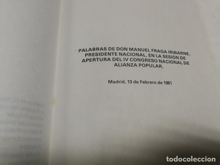 Libros de segunda mano: 2 LIBROS ALIANZA POPULAR MANUEL FRAGA AÑO 1981 SANIDAD ALIMENTARIA (ACEITE COLZA) IV CONGRESO NACION - Foto 3 - 215053602