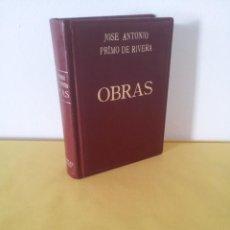Libros de segunda mano: JOSE ANTONIO PRIMO DE RIVERA - OBRAS, EDICION CRONOLOGICA - SEXTA EDICION 1971. EDITORIAL ALMENA. Lote 215925918