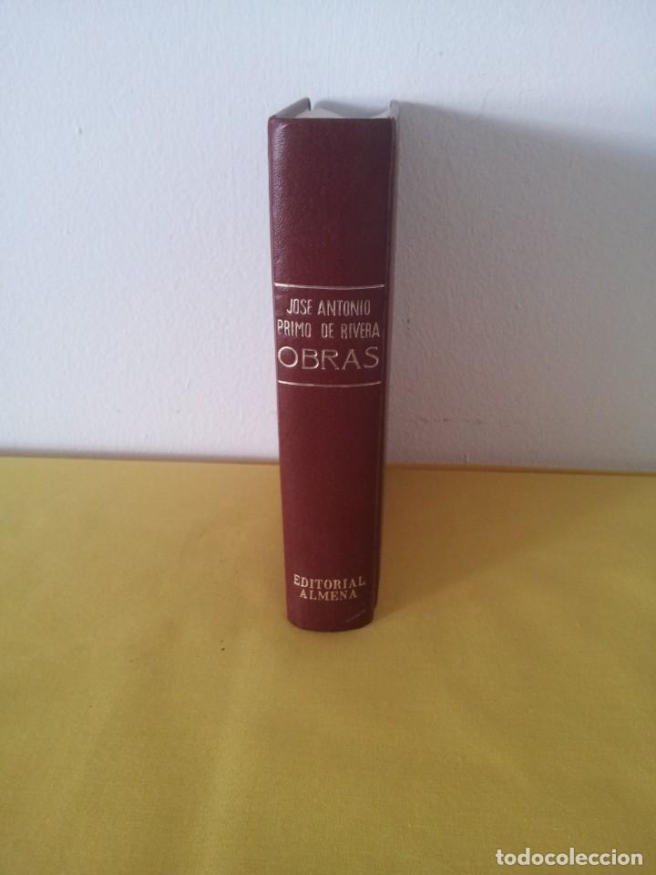 Libros de segunda mano: JOSE ANTONIO PRIMO DE RIVERA - OBRAS, EDICION CRONOLOGICA - SEXTA EDICION 1971. EDITORIAL ALMENA - Foto 3 - 215925918