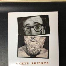 Libros de segunda mano: CARTA ABIERTA DE WOODY ALLEN A PLATÓN, DE JOSÉ ANTONIO RIVERA. Lote 217527207