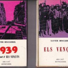 Libros de segunda mano: ELS VENÇUTS 1ª Y 2ª PARTE POR XAVIER BENGUEREL EDICIONES ARA I ACI ALFAGUARA. Lote 218297558