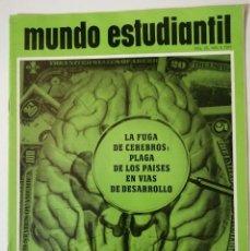 Libros de segunda mano: MUNDO ESTUDIANTIL. VOLUMEN 25. NO. 9. 1971. LA FUGA DE CEREBROS: PLAGA DE LOS PAÍSES.... Lote 218335547