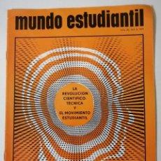 Libros de segunda mano: MUNDO ESTUDIANTIL. VOLUMEN 25. NO. 8. 1971. LA REVOLUCIÓN CIENTÍFICO-TÉCNICA Y EL MOVIMIENTO.... Lote 218335943