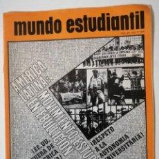 Libros de segunda mano: MUNDO ESTUDIANTIL. VOLUMEN 25. NO. 7. 1971. AMÉRICA LATINA: MOVIMIENTO ESTUDIANTIL EN EBULLICIÓN. Lote 218336243