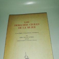Libros de segunda mano: LIDIA FALCON O'NEILL - LOS DERECHOS CIVILES DE LA MUJER. Lote 218648982