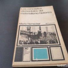 Livros em segunda mão: LOS CONCEPTOS ELEMENTALES DEL MATERIALISMO HISTÓRICO MARTA HARNECKER 1973 RECOGIDA GRATIS MALLORCA. Lote 218803392