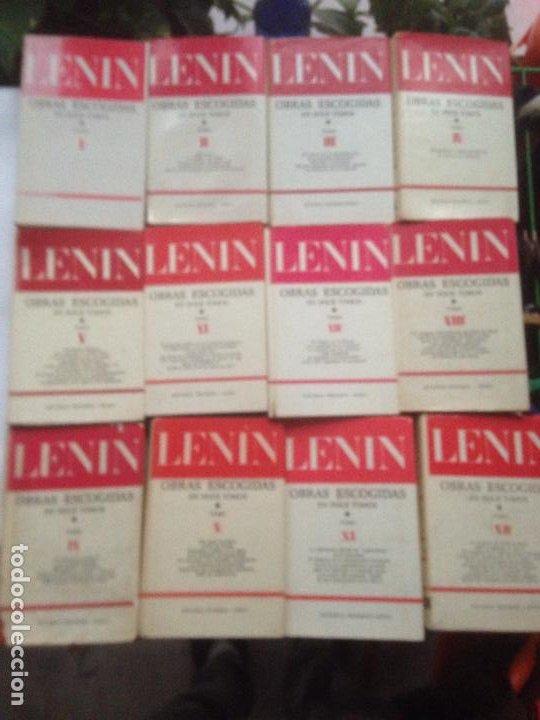 LENIN OBRAS ESCOGIDAS 12 TOMOS EDITORIAL PROGRESO - MOSCU 1977 - CASTELLANO (Libros de Segunda Mano - Pensamiento - Política)