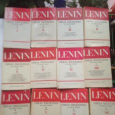 Libros de segunda mano: LENIN OBRAS ESCOGIDAS 12 TOMOS EDITORIAL PROGRESO - MOSCU 1977 - CASTELLANO. Lote 218832776