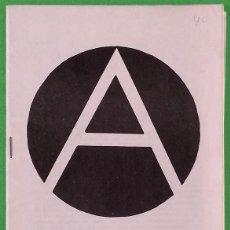 Libros de segunda mano: LA ANARQUÍA - ENRIQUE MALATESTA - JUVENTUDES LIBERTARIAS DE ALICANTE. Lote 219573916