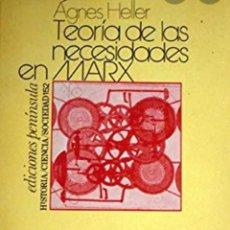 Libros de segunda mano: AGNES HELLER TEORIA DE LAS NECESIDADES EN MARX. Lote 220821862
