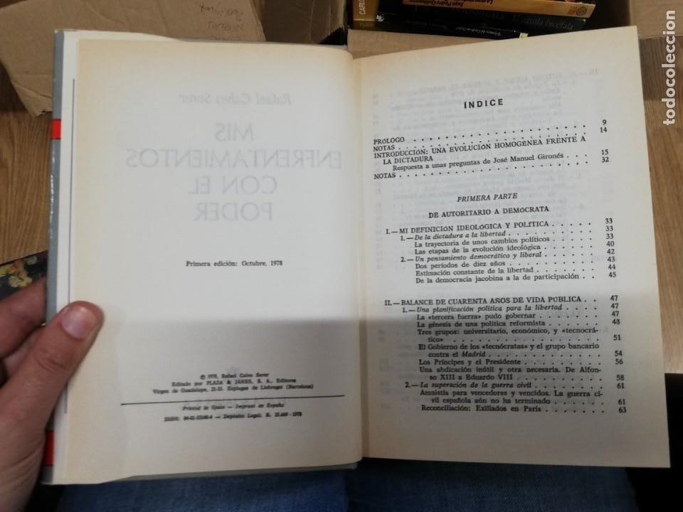 Libros de segunda mano: MIS ENFRENTAMIENTOS CON EL PODER. RAFAEL CALVO SERER. 1ª EDICIÓN - Foto 2 - 221660278