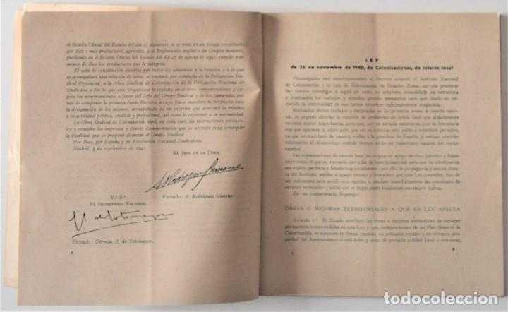 Libros de segunda mano: OBRA SINDICAL DE COLONIZACIÓN - DELEGACIÓN NACIONAL DE SINDICATOS DE FET Y DE LAS JONS - Foto 4 - 222060065
