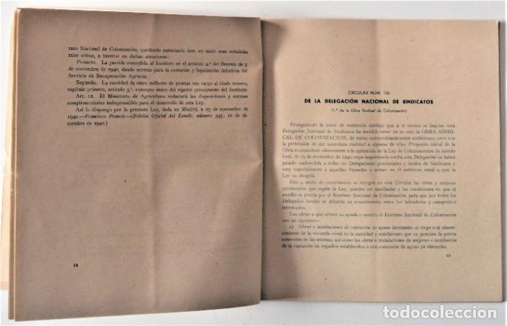 Libros de segunda mano: OBRA SINDICAL DE COLONIZACIÓN - DELEGACIÓN NACIONAL DE SINDICATOS DE FET Y DE LAS JONS - Foto 5 - 222060065