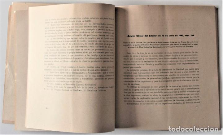 Libros de segunda mano: OBRA SINDICAL DE COLONIZACIÓN - DELEGACIÓN NACIONAL DE SINDICATOS DE FET Y DE LAS JONS - Foto 6 - 222060065