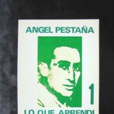 Livres d'occasion: LO QUE APRENDÍ DE LA VIDA 1 ÁNGEL PESTAÑA 1971 1A ED. ZERO, COLECCIÓN LEE Y DISCUTE. Lote 222328287