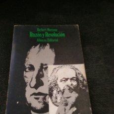 Libros de segunda mano: RAZON Y REVOLUCIÓN HERBERT MARCUSE ALIANZA. Lote 222538623