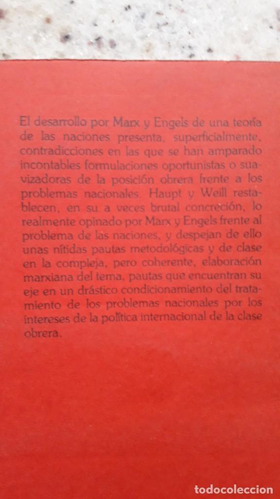 Libros de segunda mano: MARX Y ENGELS FRENTE AL PROBLEMA DE LAS NACIONES. G. HAUPT Y C. WEILL. EDITORIAL FONTANAMARA 1978 - Foto 2 - 224117267