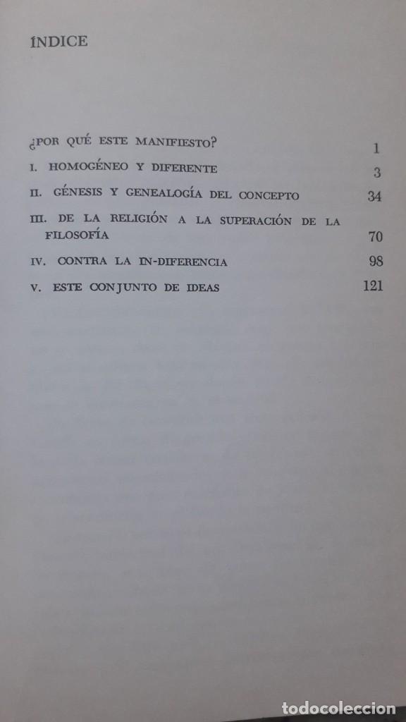 Libros de segunda mano: Manifiesto diferencialista, Henri Lefebvre, editorial Siglo Veintiuno, 1972 - Foto 3 - 224158008