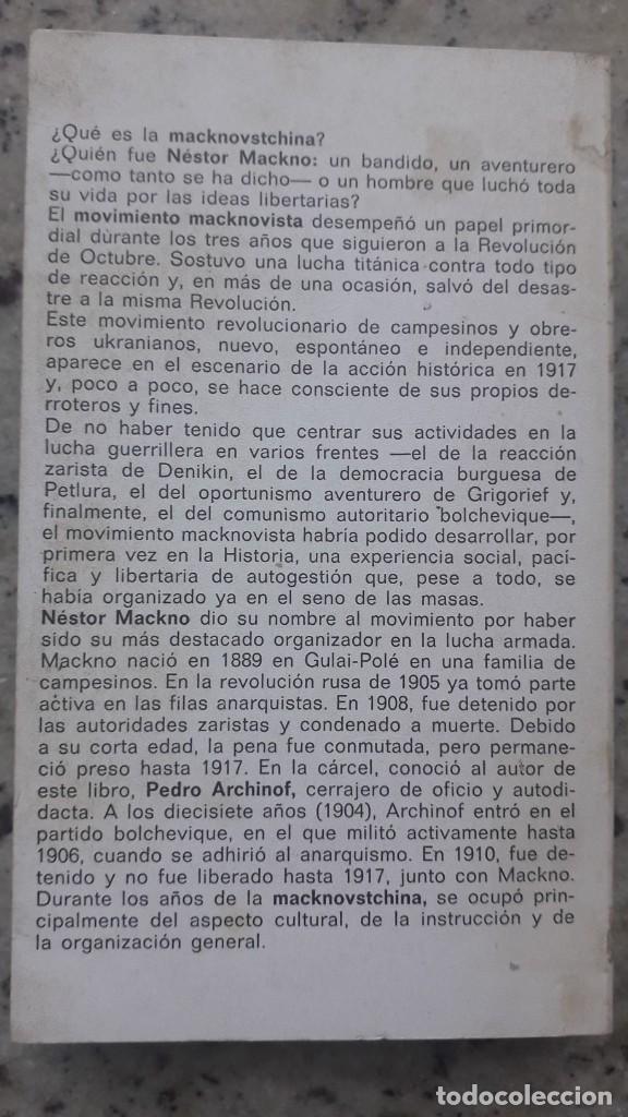 Libros de segunda mano: PEDRO ARCHINOF HISTORIA DEL MOVIMIENTO MACKNOVISTA.TUSQUETS EDITORES,1975. anarquismo y revolucion - Foto 2 - 224158496