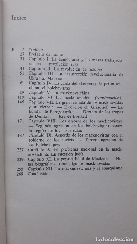 Libros de segunda mano: PEDRO ARCHINOF HISTORIA DEL MOVIMIENTO MACKNOVISTA.TUSQUETS EDITORES,1975. anarquismo y revolucion - Foto 3 - 224158496