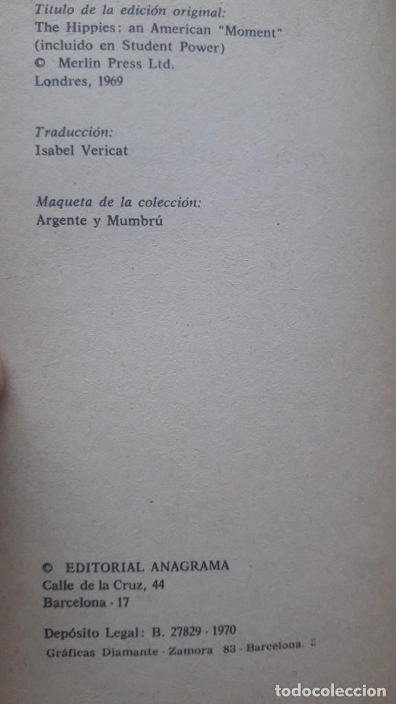 Libros de segunda mano: Los hippies: una contra-cultura - Hall, Stuart. editorial Anagrama, 1970 - Foto 2 - 224158940