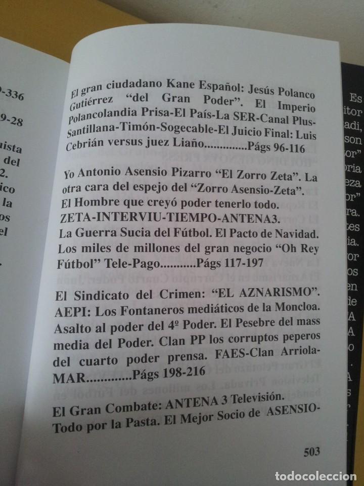 Libros de segunda mano: ALVARO BAEZA - PERIODISTAS DE ORO, EL CORRUPTO 4º PODER ¡QUIEN ES QUIEN! - 2005 - Foto 5 - 224915898