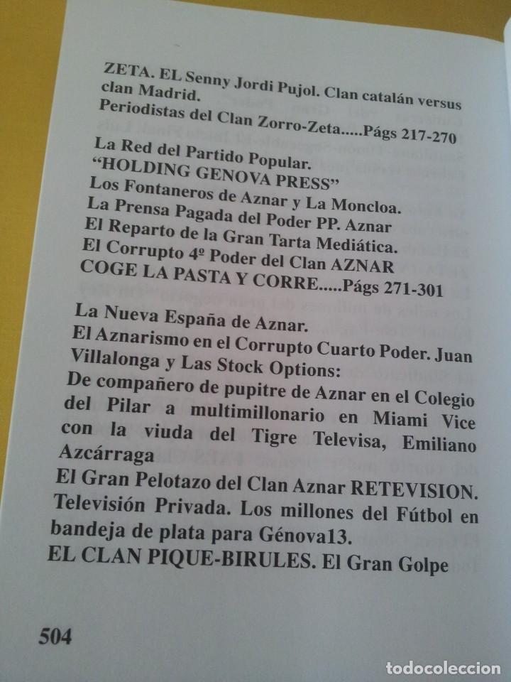 Libros de segunda mano: ALVARO BAEZA - PERIODISTAS DE ORO, EL CORRUPTO 4º PODER ¡QUIEN ES QUIEN! - 2005 - Foto 6 - 224915898