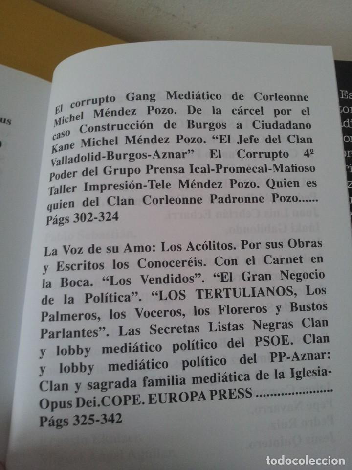 Libros de segunda mano: ALVARO BAEZA - PERIODISTAS DE ORO, EL CORRUPTO 4º PODER ¡QUIEN ES QUIEN! - 2005 - Foto 7 - 224915898