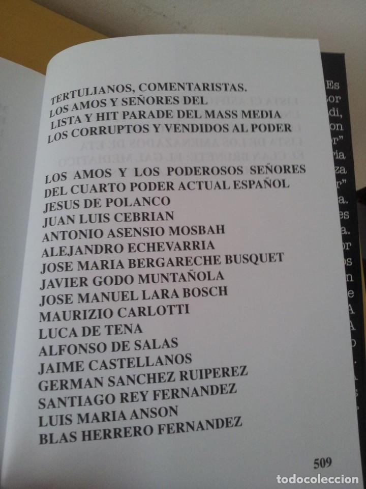 Libros de segunda mano: ALVARO BAEZA - PERIODISTAS DE ORO, EL CORRUPTO 4º PODER ¡QUIEN ES QUIEN! - 2005 - Foto 9 - 224915898