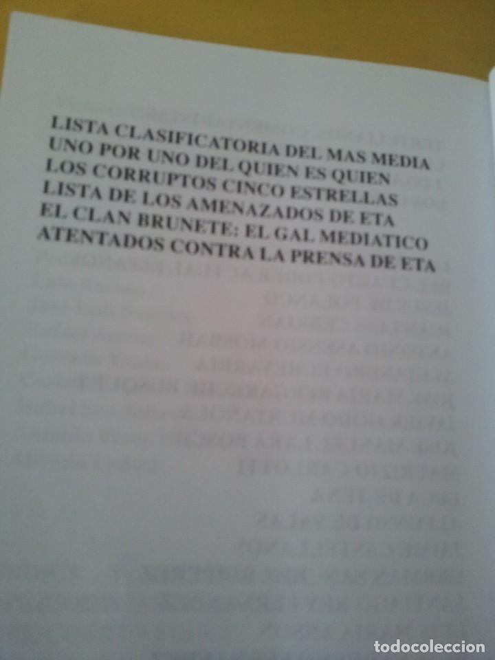 Libros de segunda mano: ALVARO BAEZA - PERIODISTAS DE ORO, EL CORRUPTO 4º PODER ¡QUIEN ES QUIEN! - 2005 - Foto 10 - 224915898