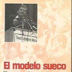 Libros de segunda mano: EL MODELO SUECO II Y I. DISCURSOS POLÍTICOS DE OLOF PALME SELECCIONADOS POR FRANCISCO URIZ. Lote 226376465