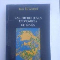 Libros de segunda mano: FRED M. GOTTHEIL. LAS PREDICCIONES ECONÓMICAS DE MARX.. Lote 226876540