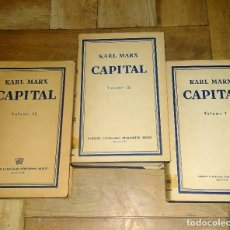 Libros de segunda mano: KARL MARX CAPITAL - ENGLISH - PRINTED IN MOSCOW - 1958 - THREE VOLUMES - FOREIGN LANGUAGES PUBLISH.. Lote 229172425