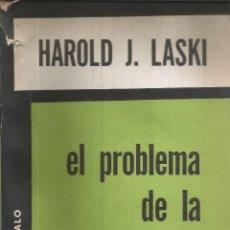 Libros de segunda mano: EL PROBLEMA DE LA SOBERANIA. HAROLD J. LASKI. 1960. Lote 232161810